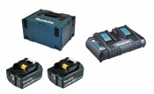 Makita Power Source-Kit 18V 5Ah, 2x BL1850B + DC18RD